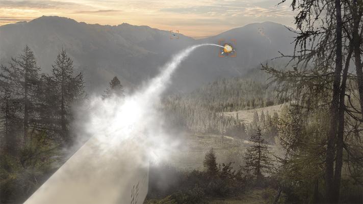 L'Advanced Precision Kill Weapon System (APKWS) di BAE Systems impiegato in funzione C-UAS. (Fonte: BAE Systems)